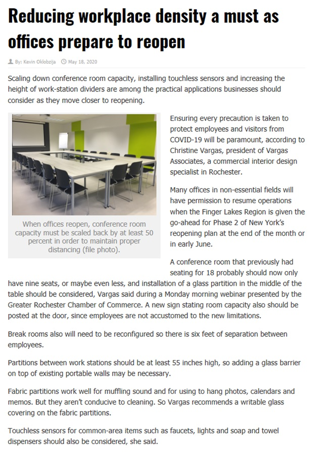 Reducing Workplace Density RBJ Article Image